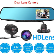 Load image into Gallery viewer, REAR VIEW MIRROR W/ DASHCAM AND BACK CAM