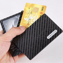 Load image into Gallery viewer, Real Carbon Fiber Magnetic Card Holder Wallet - 4 Layer