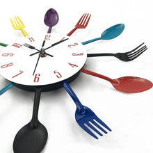 Load image into Gallery viewer, Spoon Fork Creative Quartz Wall Mounted Clock