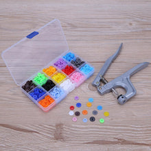 Load image into Gallery viewer, Snap Plier Hand Tool - (150 plastic snap buttons included)