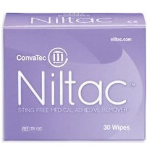 Convatec 420788 Niltac Sting Free Adhesive Remover TR102 Wipes Box/30