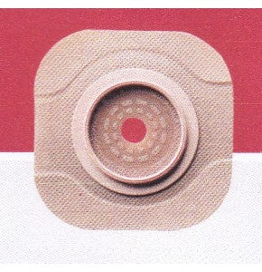"Hollister 15303 New Image CeraPlus Two-Piece Skin Convex Barrier Without Tape Border Flange 2 1/4"" (57 mm) Barrier Opening Up to 1 1/2"" (38 mm) Red Cut-to-Fit Box/5"