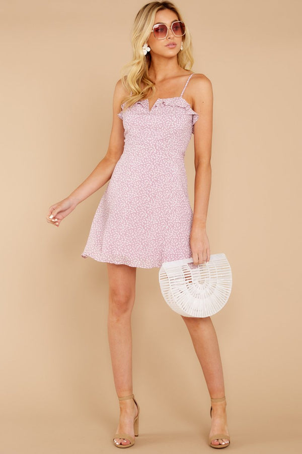 1 When She Smiles Light Lilac Print Dress at reddressboutique.com