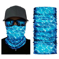 Face Mask and Neck Warmer with Dust and Sun UV Protection (Skull Colored)