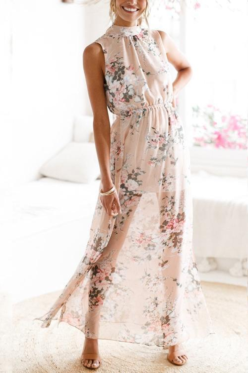 Dreamfitting Blush Floral Maxi Dress