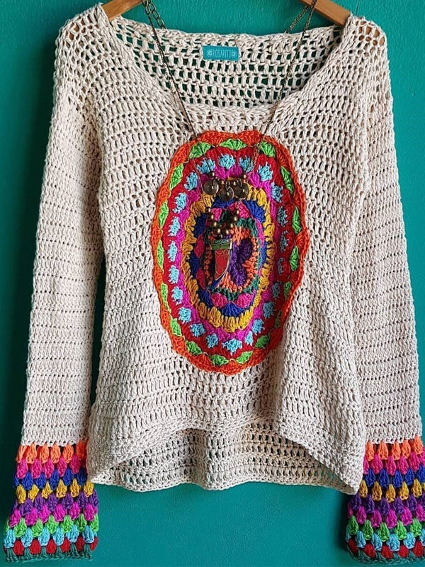 Knit Plus size BOHO Casual Sweater