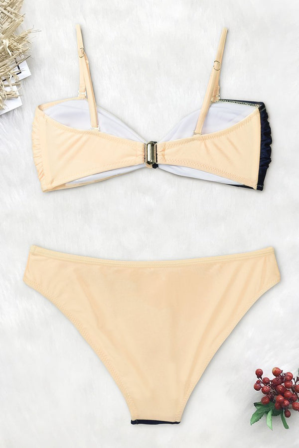 Lost In the Dream Colorblock Bikini with Bowknot