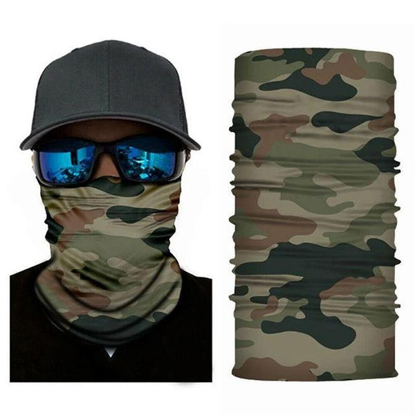 Face Mask and Neck Warmer with Dust and Sun UV Protection (Camouflage)