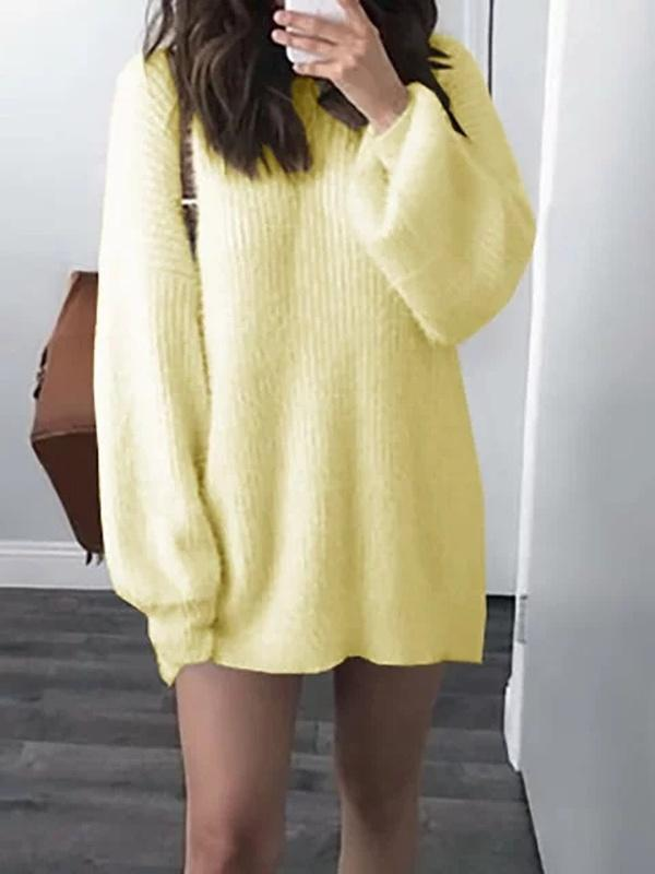 Dreamfitting Crew Neck Women Casual Dresses Shift Date Casual Paneled Hoodies