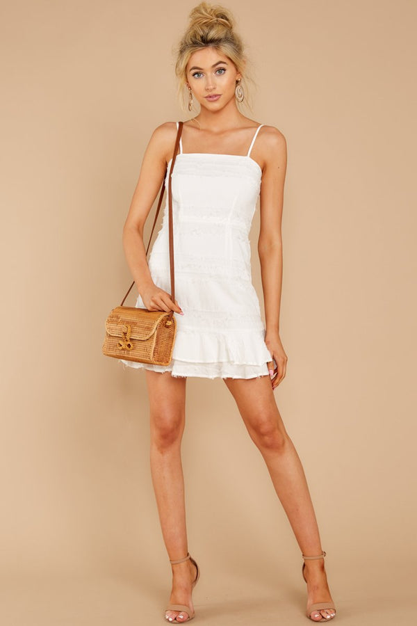 1 Insta This White Dress at reddressboutique.com