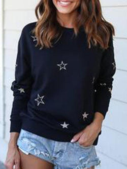 Dreamfitting Black Printed/dyed Casual Sweatshirts