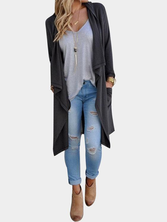 Casual Open Long Sleeve Cardigans