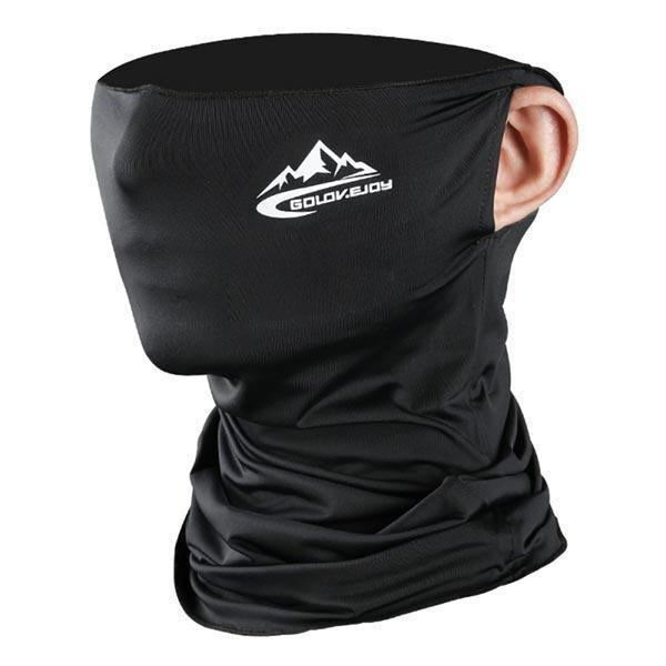 Spring Summer Cycling Half Face Mask Skin Cool Ice Silk Breathable UV Protection Outdoor Sports Headwear Camping Hiking Headband - F