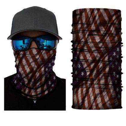 Face Mask and Neck Warmer with Dust and Sun UV Protection (US Flag S218)