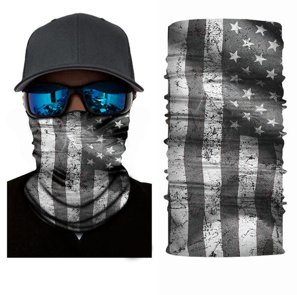 FACE MASK AND NECK WARMER WITH DUST AND SUN UV PROTECTION (US FLAG S24)
