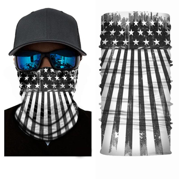 FACE MASK AND NECK WARMER WITH DUST AND SUN UV PROTECTION (US FLAG S26)