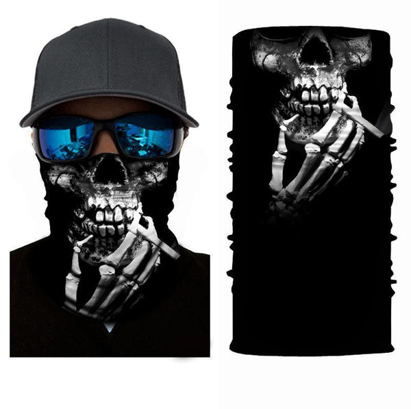 FACE MASK AND NECK WARMER WITH DUST AND SUN UV PROTECTION (SKULL S31 )