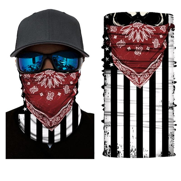 FACE MASK AND NECK WARMER WITH DUST AND SUN UV PROTECTION (US FLAG S501)