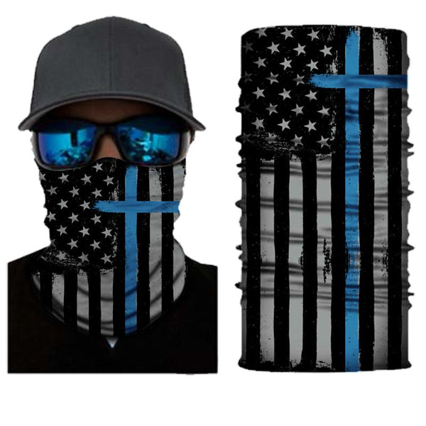 FACE MASK AND NECK WARMER WITH DUST AND SUN UV PROTECTION (US FLAG S502)