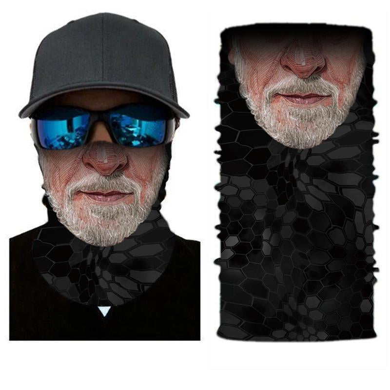 Face Mask and Neck Warmer with Dust and Sun UV Protection (portrait S74)