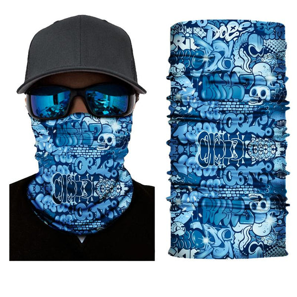 Face Mask and Neck Warmer with Dust and Sun UV Protection(Colorful Graffiti S803)
