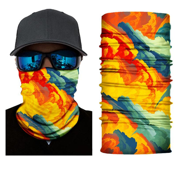 Face Mask and Neck Warmer with Dust and Sun UV Protection(Colorful Graffiti S804)
