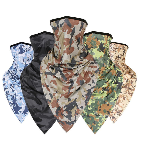 Windproof Tactical Ski Camo Triangle Scarf Sports Bandana Face Mask