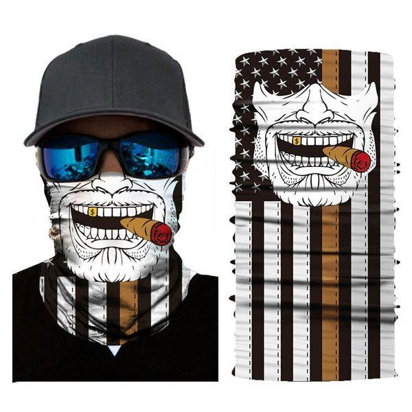 Face Mask and Neck Warmer with Dust and Sun UV Protection (Cigar-1)