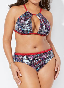 RIVAL ORBIT KEYHOLE HIGH NECK BIKINI