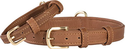 Friends Forever Genuine Leather Collar, Soft Touch Leather Dog Collars for Small Medium Dogs