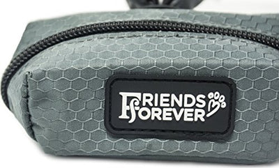 Friends Forever Dog Leash Attachment Zippered Pouch Waste Bag Dispenser with Strap for Treats Key Money ID