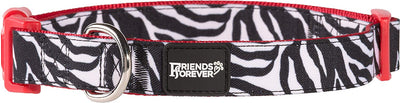 Friends Forever Pattern Dog Collar for Dogs, Fashion Print Leopard Zebra Cute Puppy Collar
