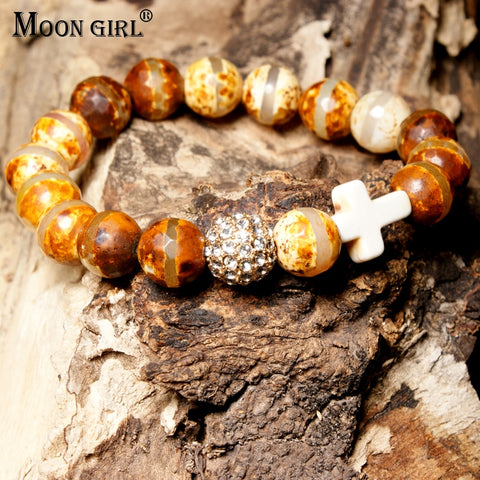 Pave Ball Yoga Bracelet