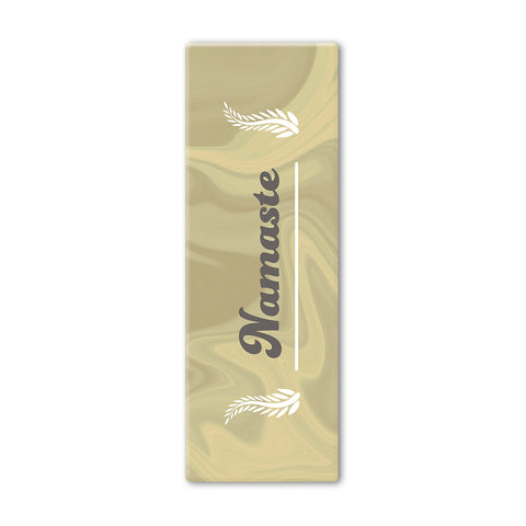 Gold Nameste Yoga Mat