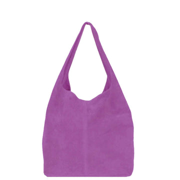 Mauve Soft Suede Hobo Shoulder Bag - Brix and Bailey® - Contemporary Bag, Watch and Accessory Brand