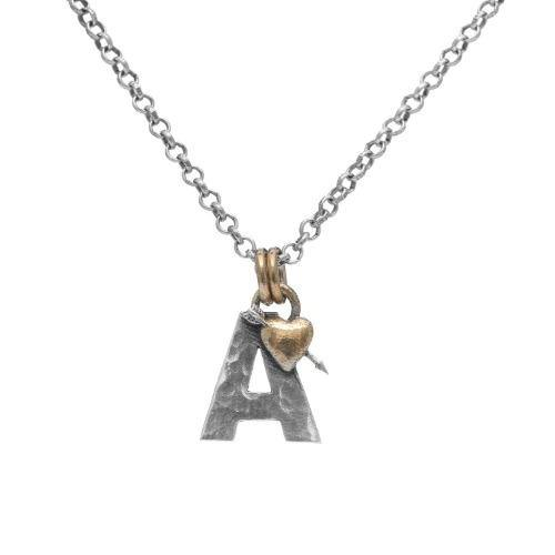 Letter A Initial Pendant Necklace
