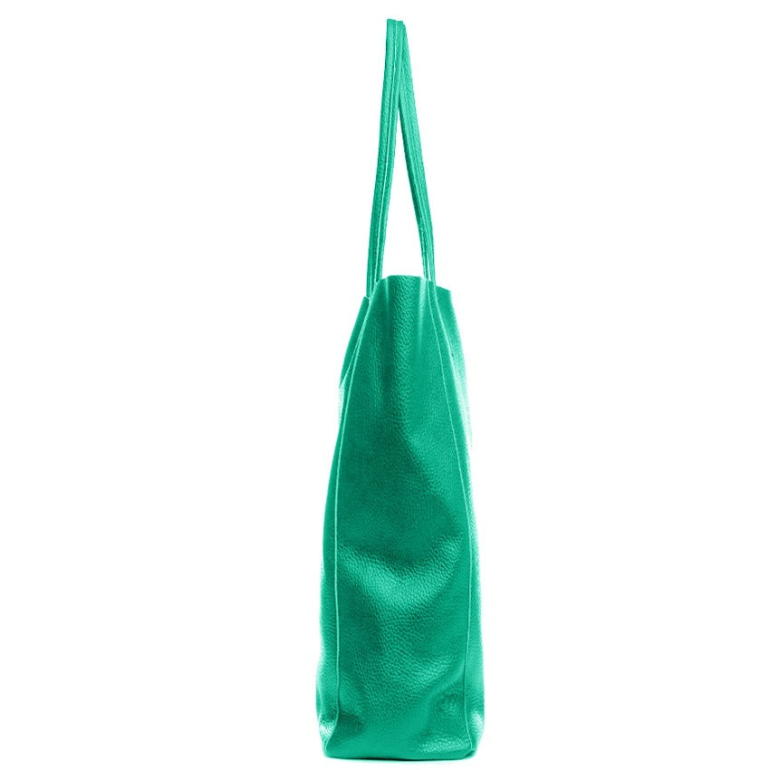 Aqua Pebbled Leather Tote Shopper Bag - Brix and Bailey® - Contemporary Bag, Watch and Accessory Brand
