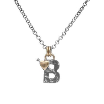 Letter B Initial Pendant Necklace - Sostter