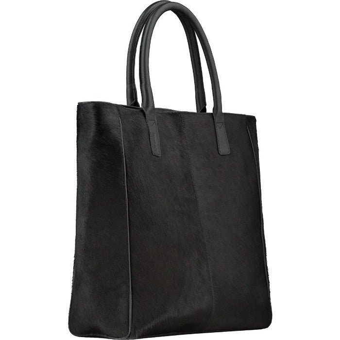 Black Hair On Hide Leather Day Tote Brix Bailey