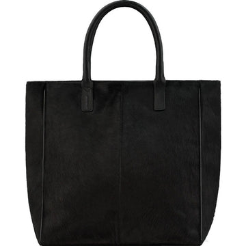 Black Hair On Hide Signature Tote - Brix and Bailey® - Contemporary Bag, Watch and Accessory Brand