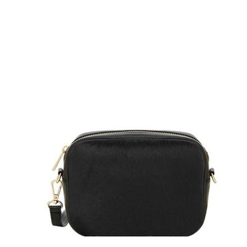 Black Hair On Hide Leather Small Cross-Body Bag - Brix and Bailey® - Contemporary Bag, Watch and Accessory Brand