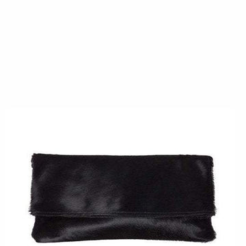 Black Hair On Hide Leather Clutch - Brix and Bailey® - Contemporary Bag, Watch and Accessory Brand