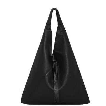 Black Pebbled Boho Leather Bag - Brix and Bailey® - Contemporary Bag, Watch and Accessory Brand