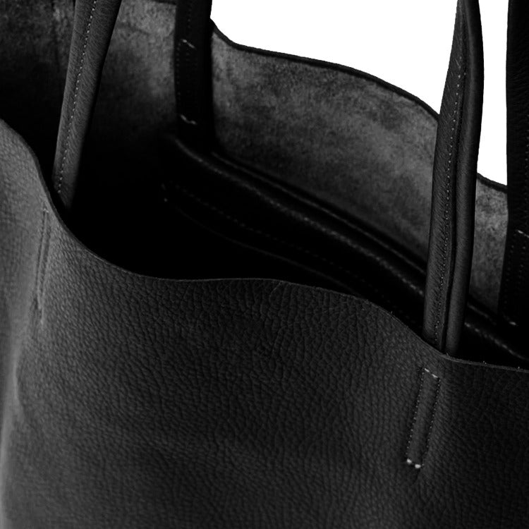 Brix and Bailey Black Pebbled Leather Tote Shopper
