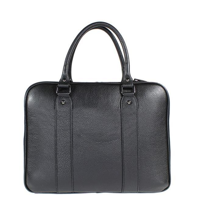 Mens Black Leather Work Bag Brix and Bailey