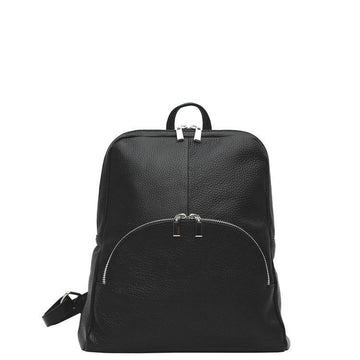 Black Pebbled Leather Backpack - Brix and Bailey® - Contemporary Bag, Watch and Accessory Brand
