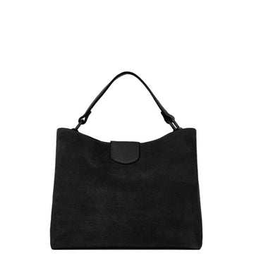 Black Suede Leather Grab Bag - Brix and Bailey® - Contemporary Bag, Watch and Accessory Brand