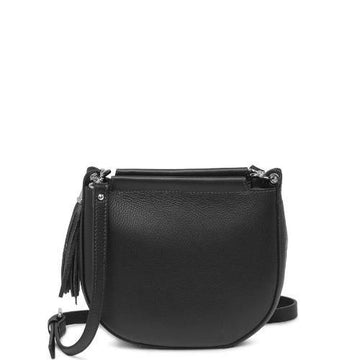 Tassel Leather Crossbody Saddle Bag - Sostter