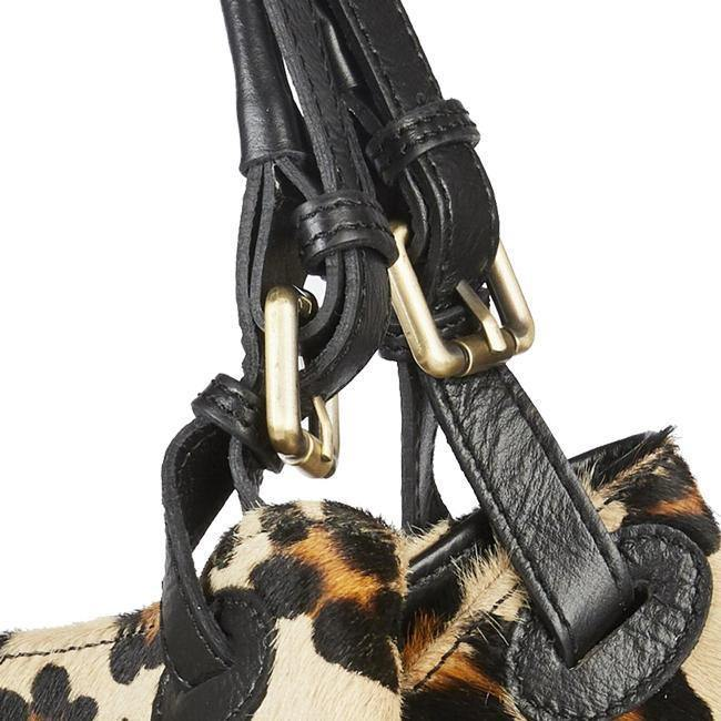 Leopard Cavallino Hobo Leather Bag Brix and Bailey
