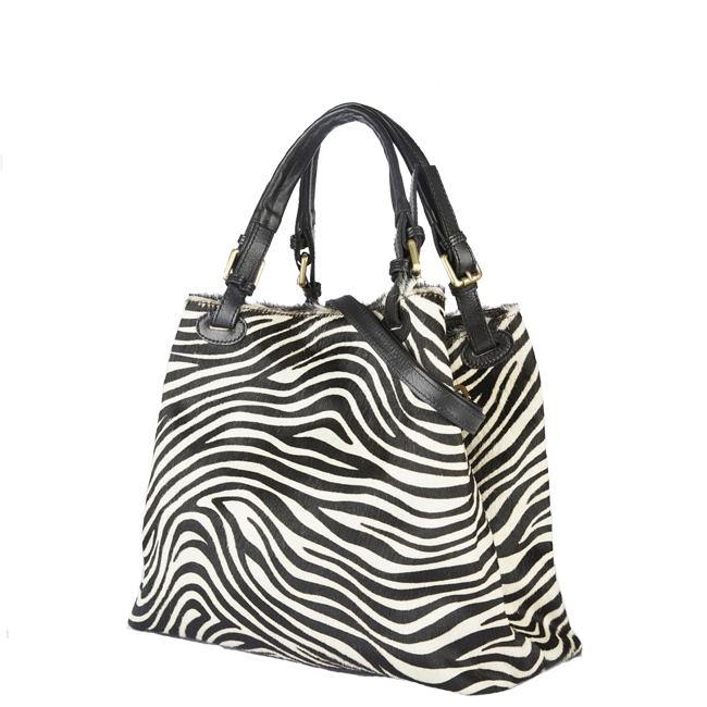 Brix Bailey Zebra Hair on Hobo Bag